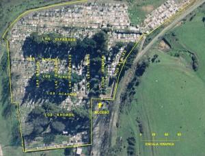 Mapa Cementerio Traiguen 1