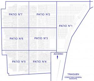 Mapa Cementerio Traiguen 3