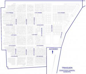 Mapa Cementerio Traiguen 4